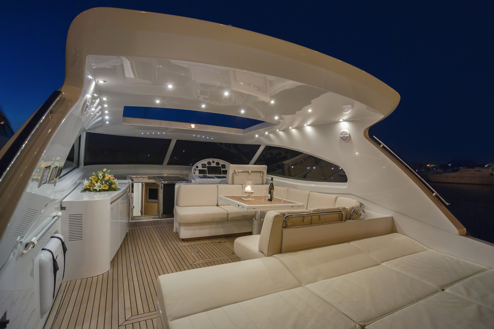 luxury yacht cockpit