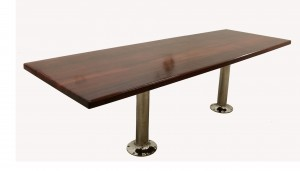 Jarrah Table on Stainless Steel legs