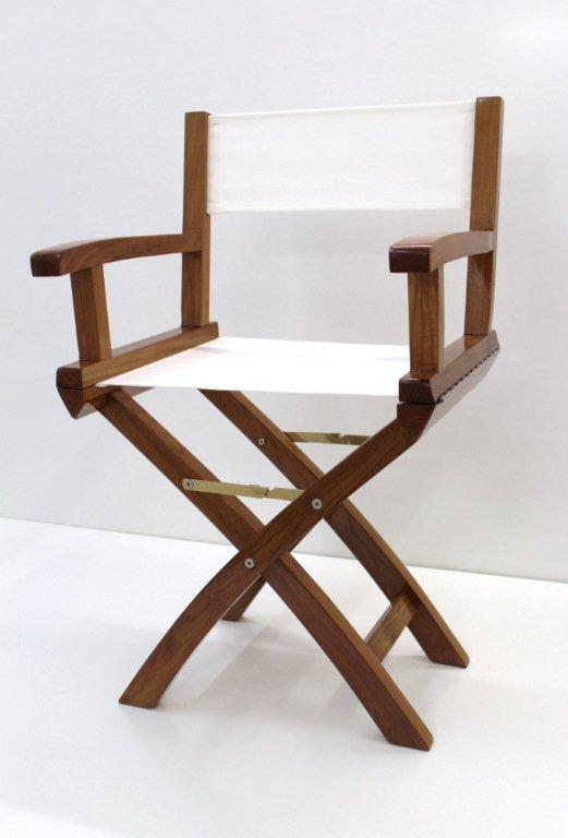 Teak Boat Folding Chair high gloss